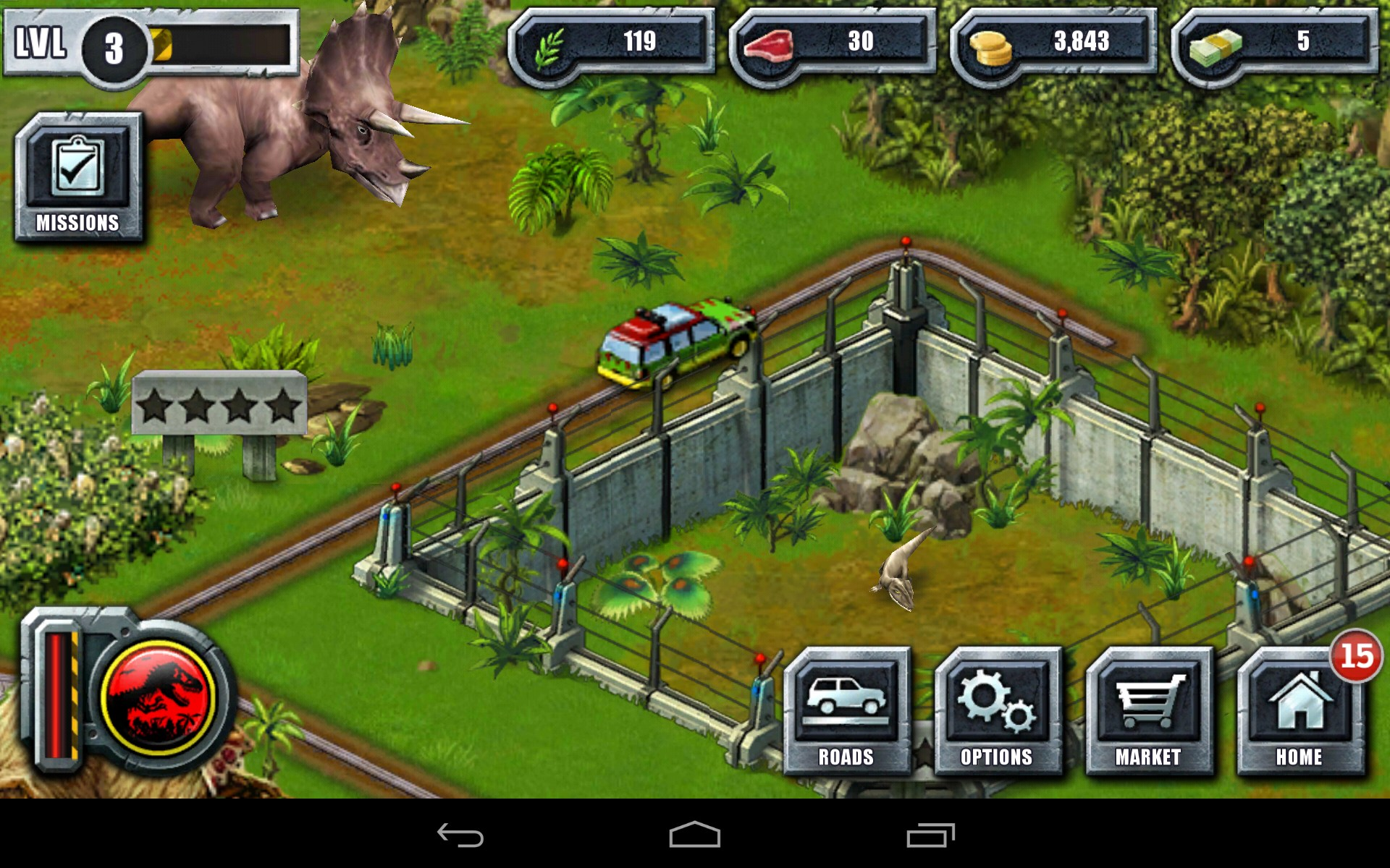 jurassic park builder games free to play