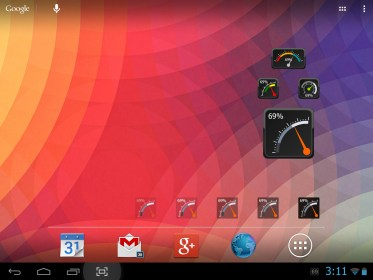 Gauge Battery Widget 2014