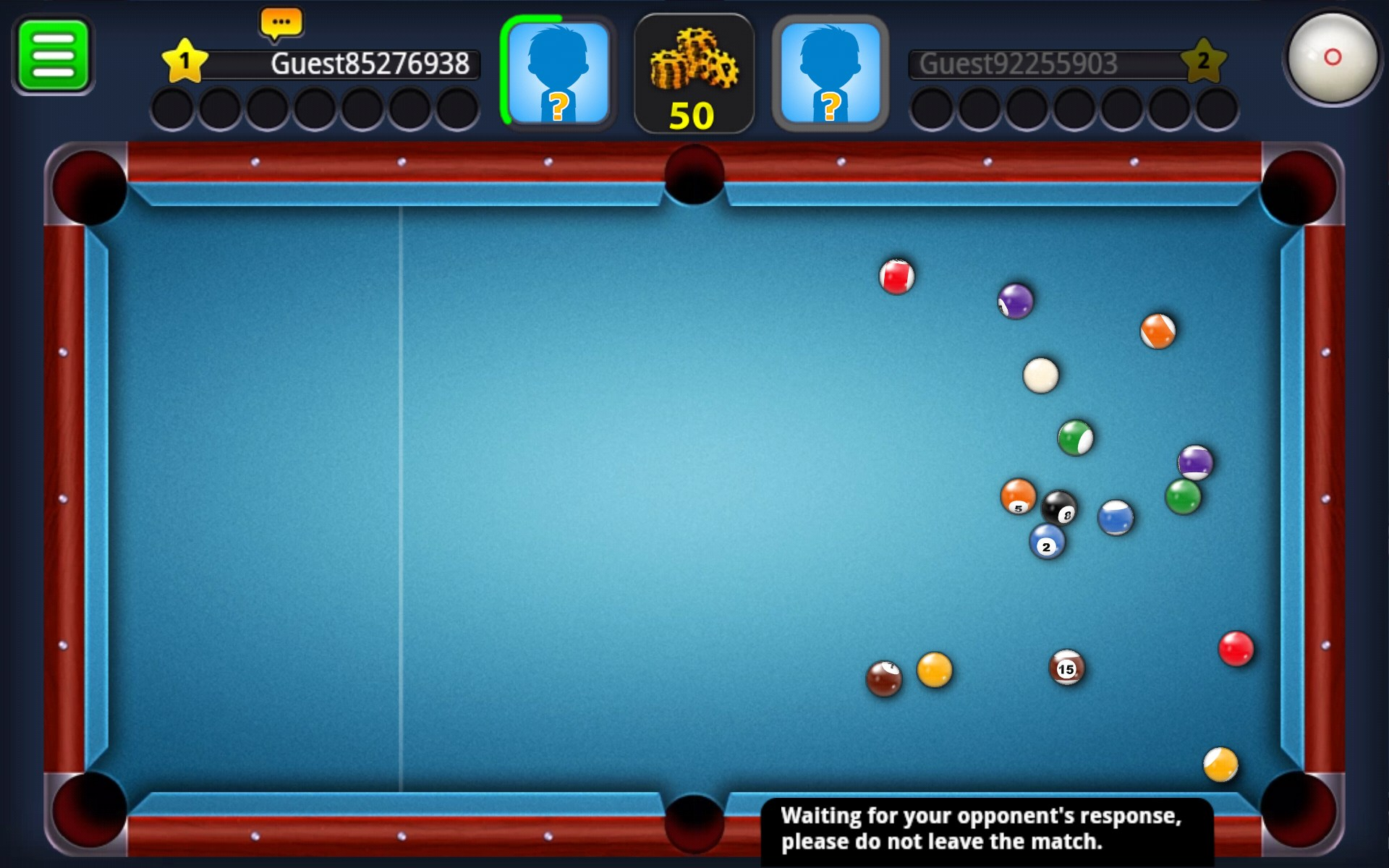 online 8ball pool betting