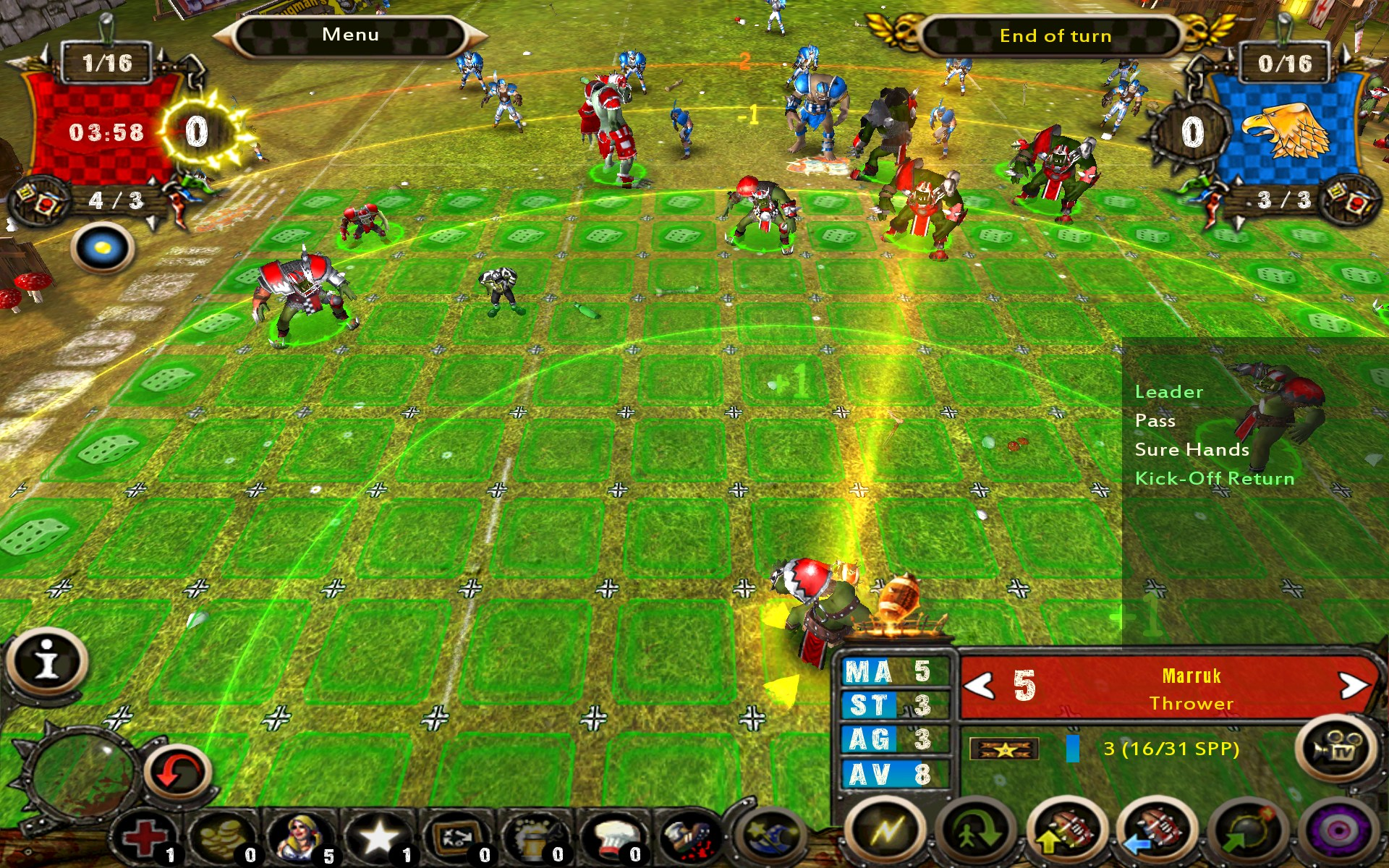how to get substiution on the field blood bowl