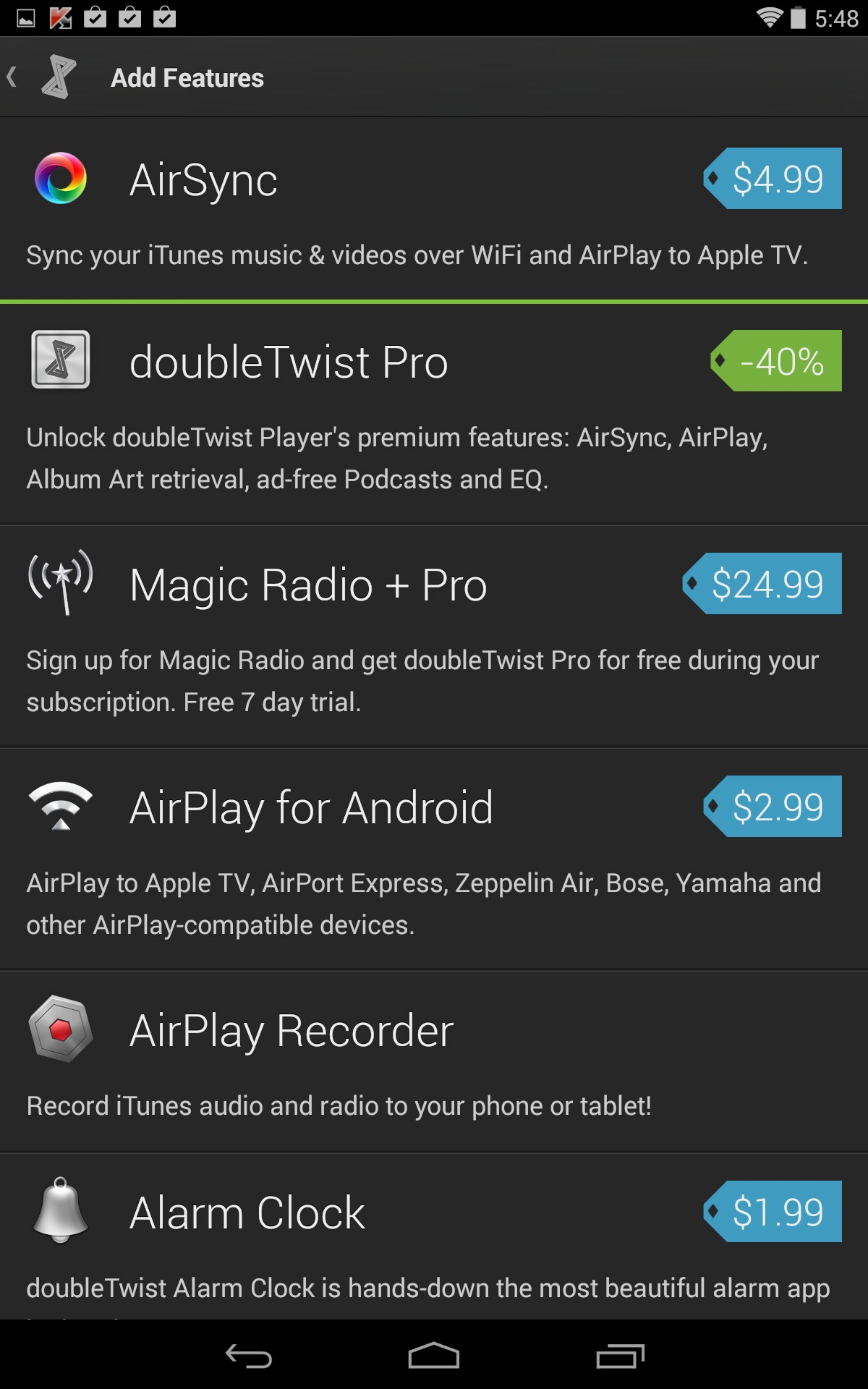 doubleTwist Music Podcast Player with Sync V303