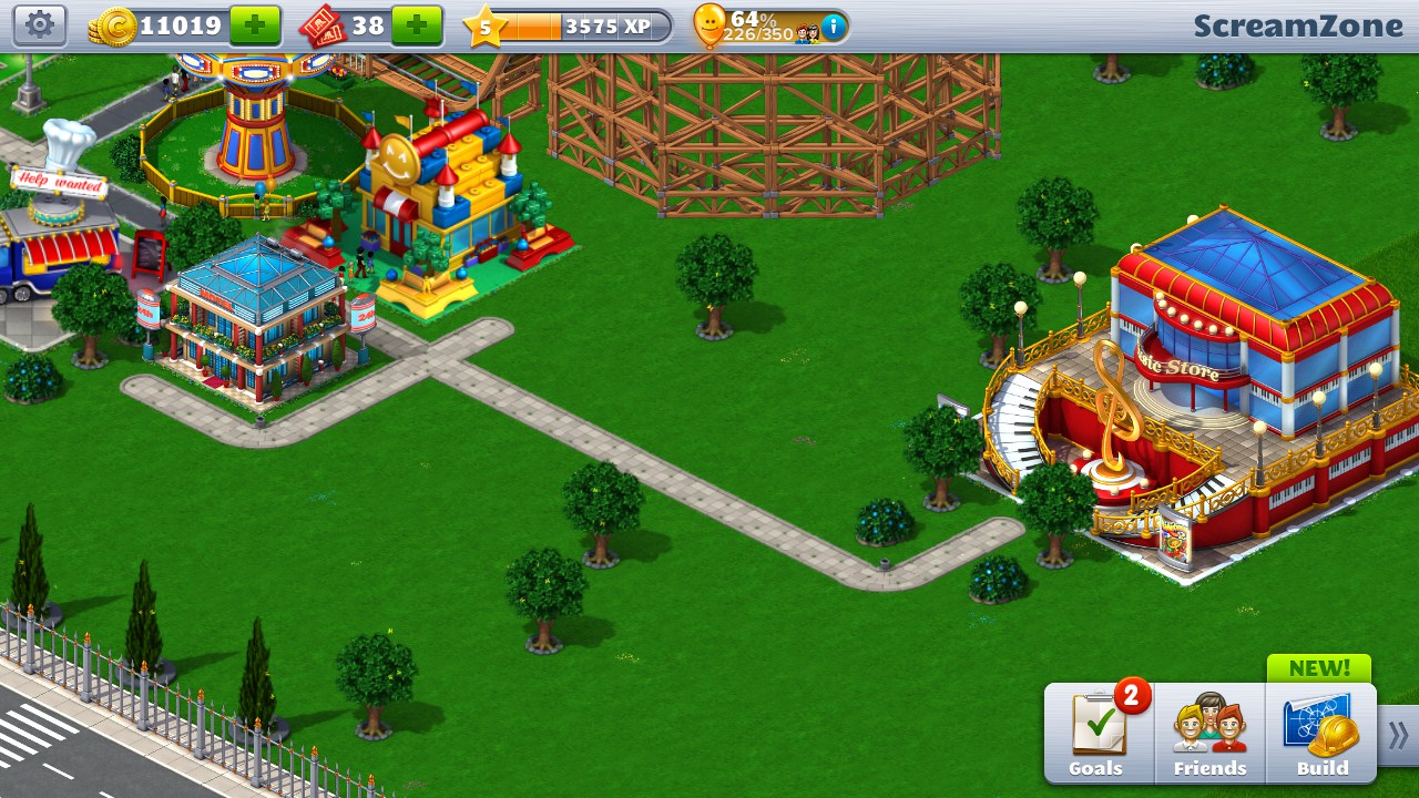 games free play simulation rollercoaster tycoon touch