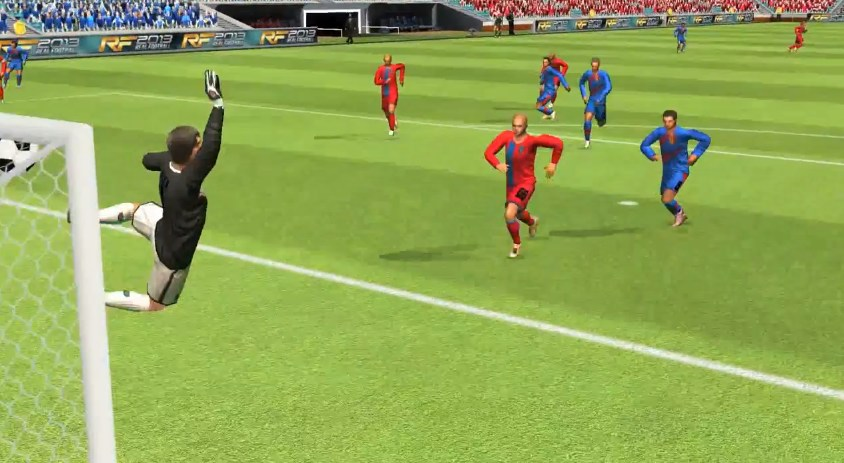 Free download java game real football 2014 from gameloft for mobil.