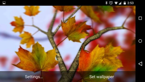 Autumn Leaves in HD Gyro 3D para Fly Flylife Connect 7.85