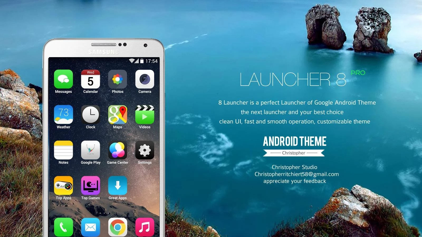 8 Launcher – Soft for Android 2018 – Free download  8 Launcher
