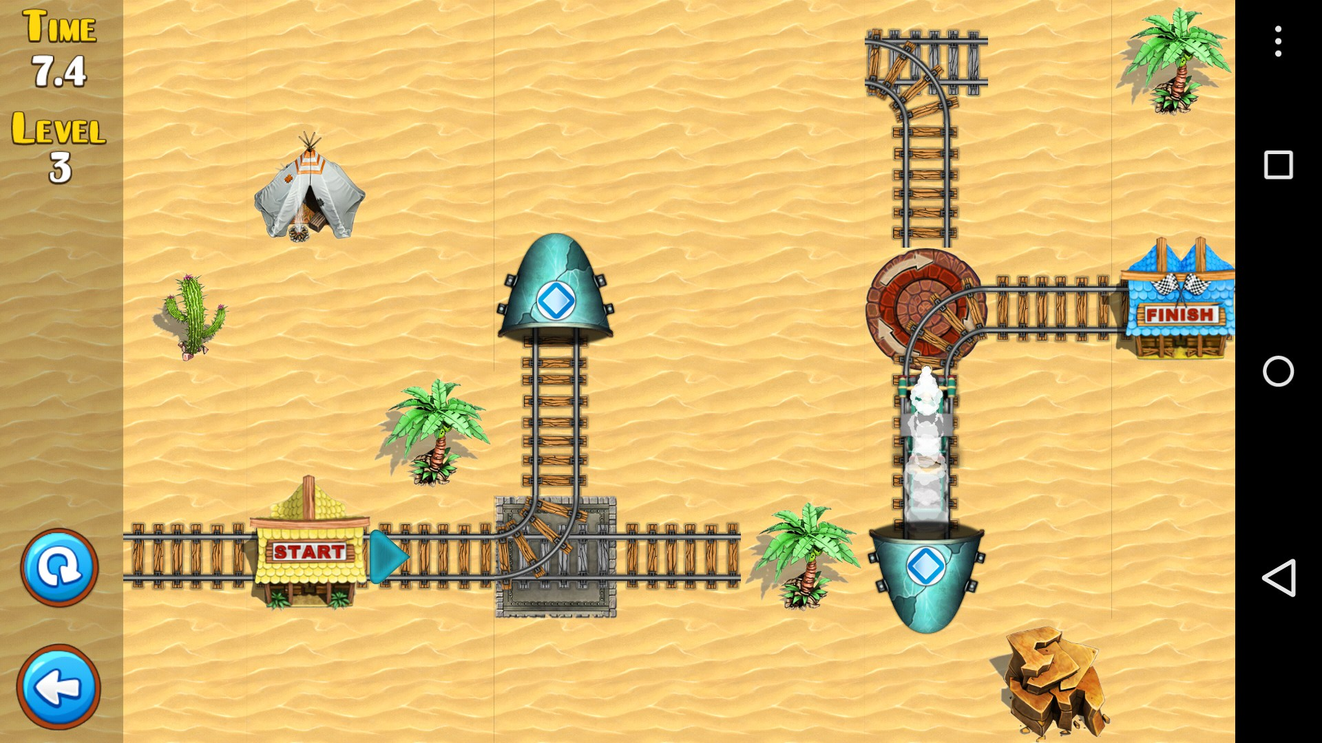 how to play rail rush game