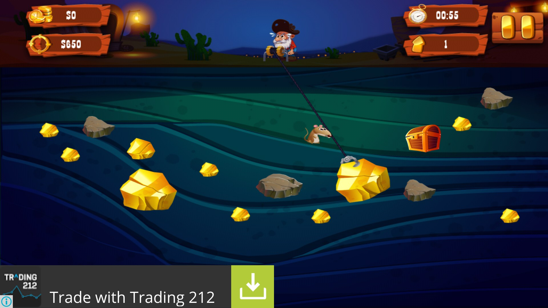 Gold Miner Adventure - Games for Android 2018 - Free