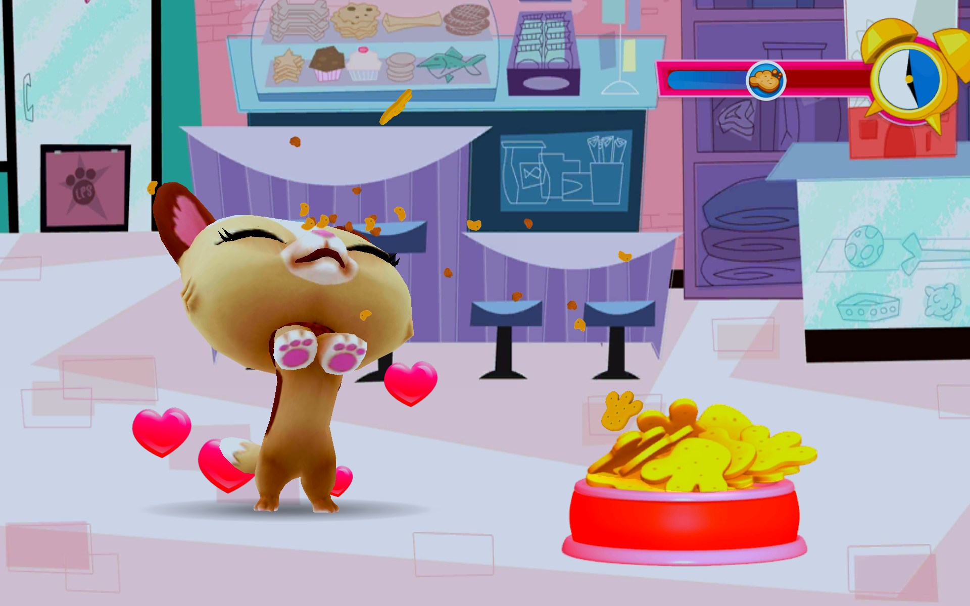 There are games related to my littlest pet shop adventure, such as