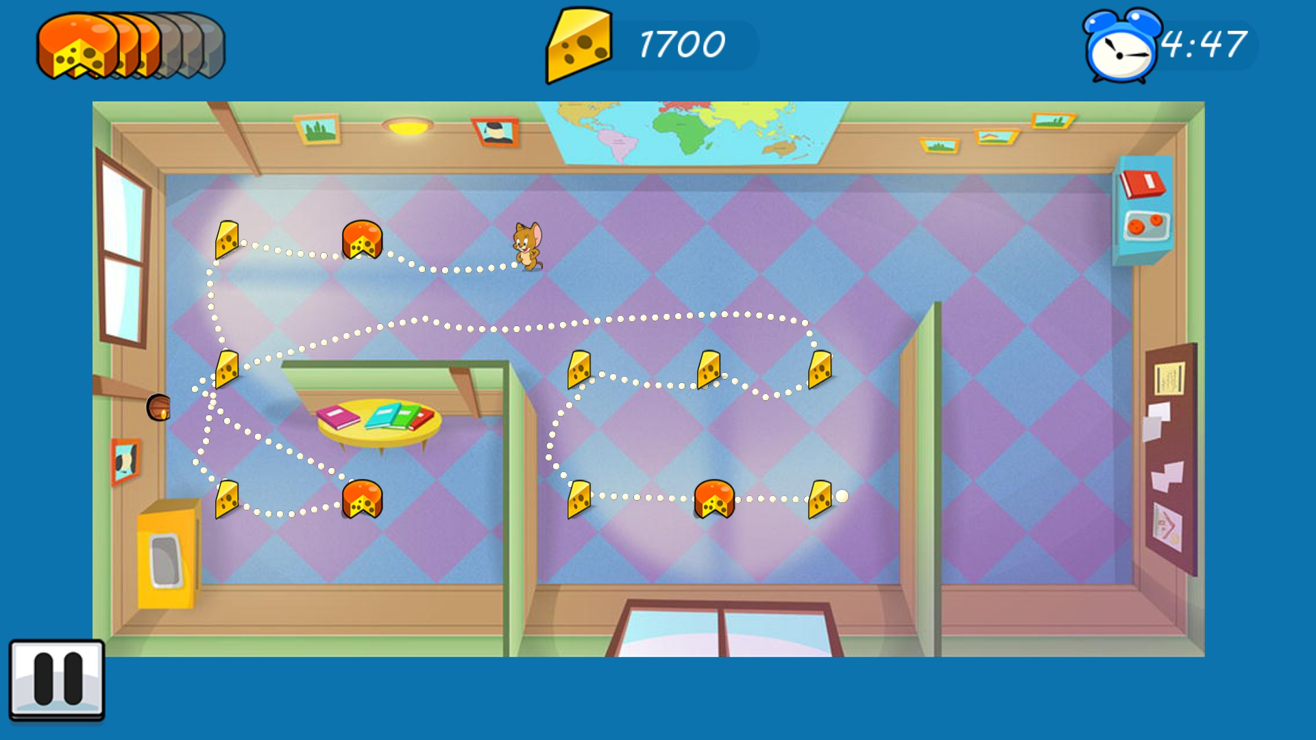 Android game Tom and Jerry :mouse maze level 7 first floor ...
