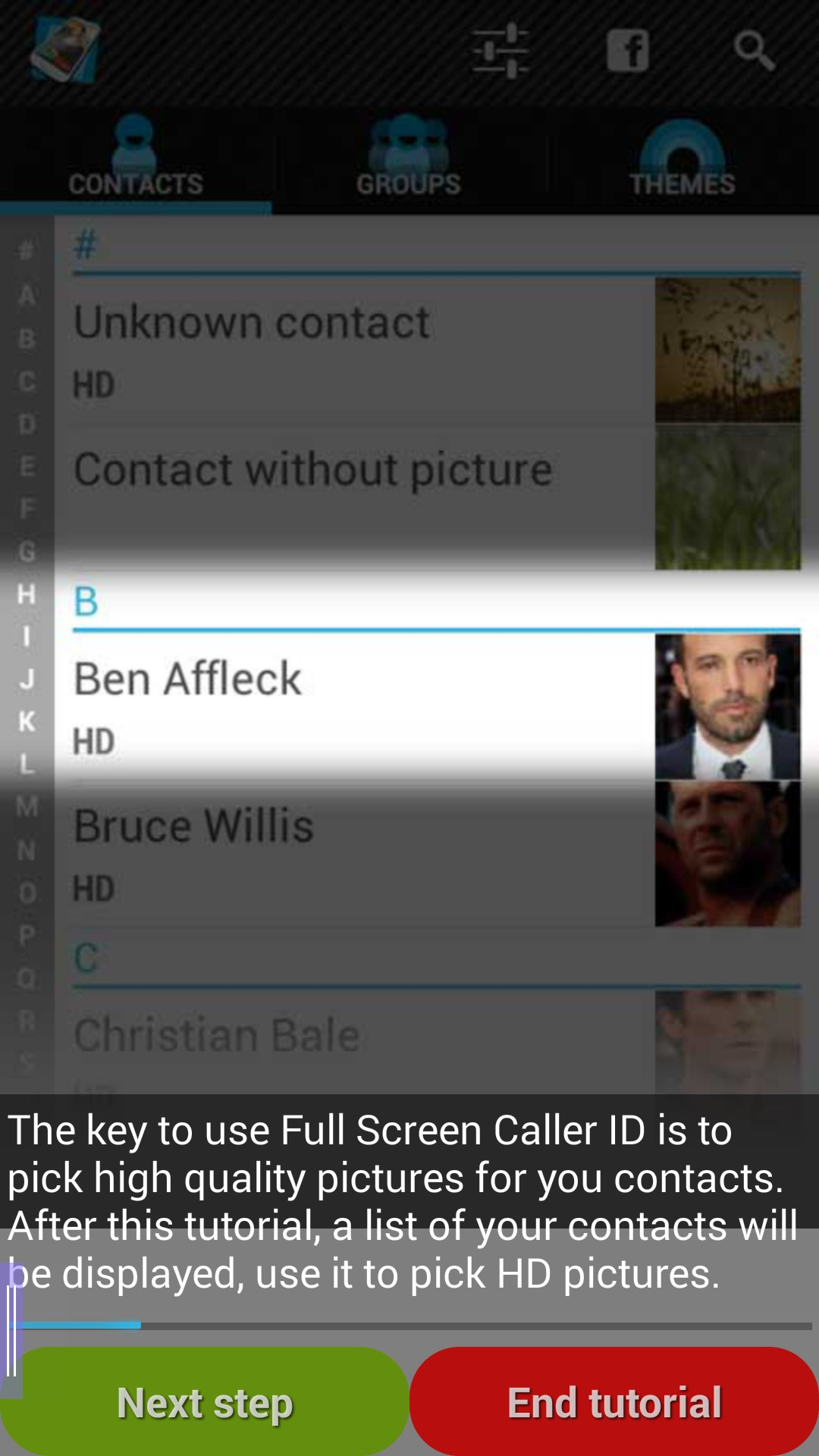 how to make caller id photo full screen on iphone