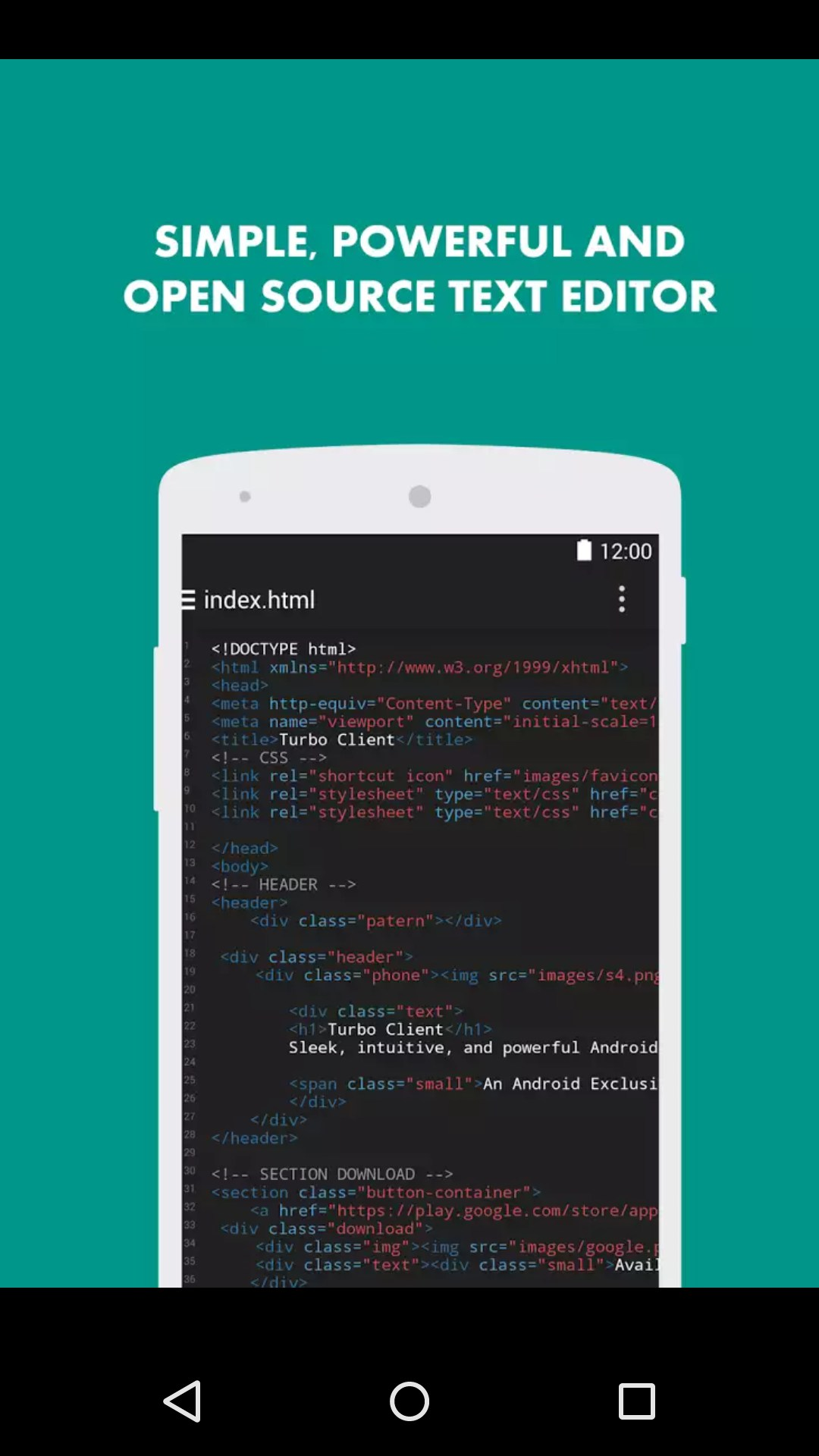 Turbo Editor // Text Editor – Soft for Android 2018 – Free download