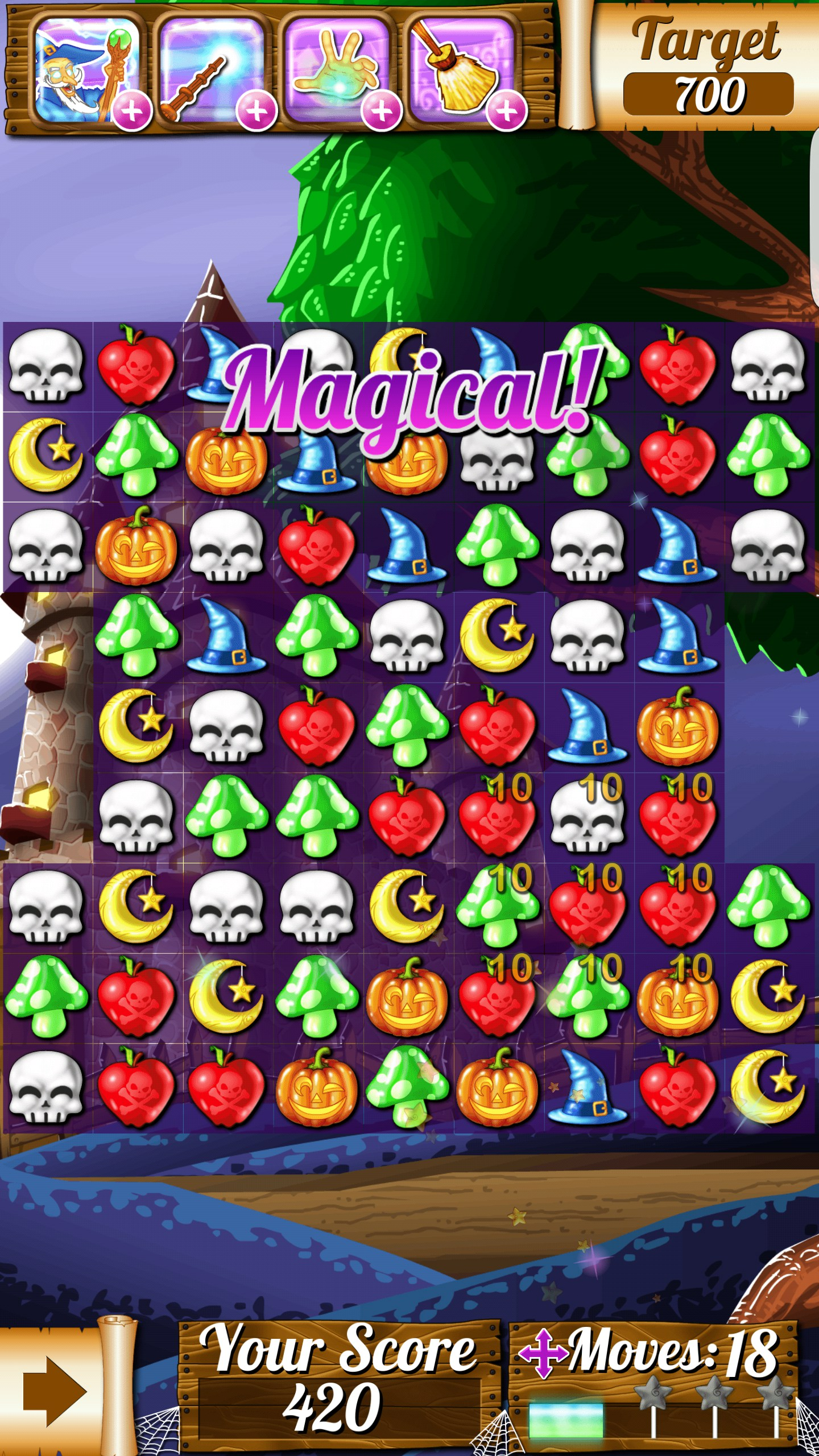 witch puzzle match 3 game